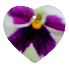 Inside Purple White Violet Flower Heart Ornament by yoursparklingshop