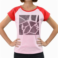 Grey White Tiles Pattern Women s Cap Sleeve T Shirt (colored) by yoursparklingshop