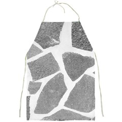 Grey White Tiles Pattern Apron by yoursparklingshop
