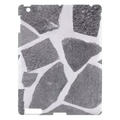 Grey White Tiles Pattern Apple Ipad 3/4 Hardshell Case by yoursparklingshop
