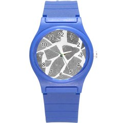 Grey White Tiles Pattern Plastic Sport Watch (small) by yoursparklingshop