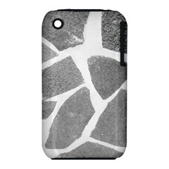 Grey White Tiles Pattern Apple Iphone 3g/3gs Hardshell Case (pc+silicone)