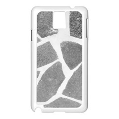 Grey White Tiles Pattern Samsung Galaxy Note 3 N9005 Case (white) by yoursparklingshop