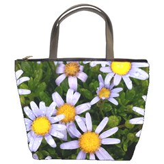 Yellow White Daisy Flowers Bucket Handbag by yoursparklingshop