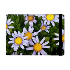Yellow White Daisy Flowers Apple Ipad Mini Flip Case by yoursparklingshop
