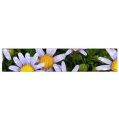Yellow White Daisy Flowers Flano Scarf (small)