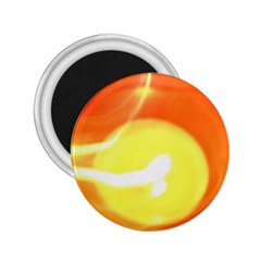 Orange Yellow Flame 5000 2 25  Button Magnet by yoursparklingshop