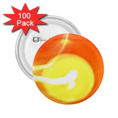 Orange Yellow Flame 5000 2 25  Button (100 Pack) by yoursparklingshop