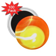 Orange Yellow Flame 5000 2 25  Button Magnet (100 Pack) by yoursparklingshop