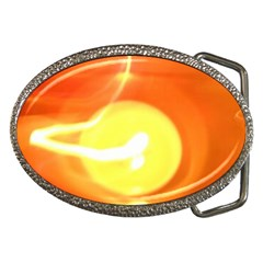 Orange Yellow Flame 5000 Belt Buckle (oval) by yoursparklingshop