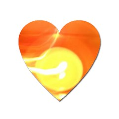 Orange Yellow Flame 5000 Magnet (heart) by yoursparklingshop