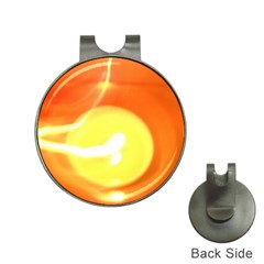 Orange Yellow Flame 5000 Hat Clip With Golf Ball Marker by yoursparklingshop