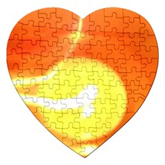 Orange Yellow Flame 5000 Jigsaw Puzzle (heart) by yoursparklingshop