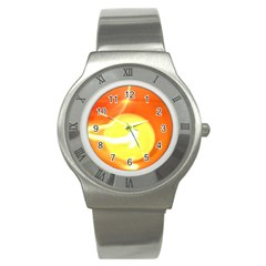 Orange Yellow Flame 5000 Stainless Steel Watch (slim) by yoursparklingshop