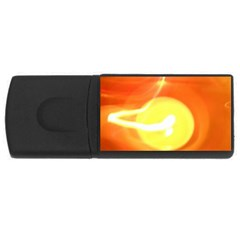 Orange Yellow Flame 5000 4gb Usb Flash Drive (rectangle) by yoursparklingshop