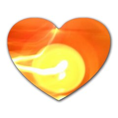 Orange Yellow Flame 5000 Mouse Pad (heart) by yoursparklingshop