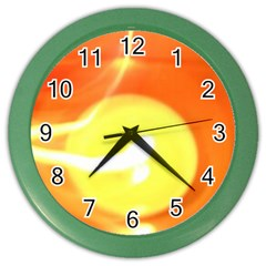 Orange Yellow Flame 5000 Wall Clock (color)