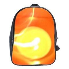 Orange Yellow Flame 5000 School Bag (large) by yoursparklingshop