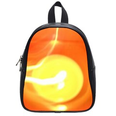 Orange Yellow Flame 5000 School Bag (small) by yoursparklingshop