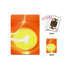 Orange Yellow Flame 5000 Playing Cards (mini) by yoursparklingshop