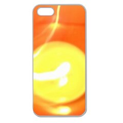 Orange Yellow Flame 5000 Apple Seamless Iphone 5 Case (clear)