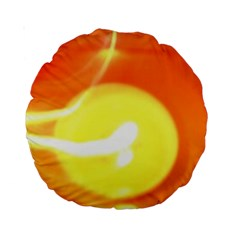 Orange Yellow Flame 5000 Standard 15  Premium Round Cushion  by yoursparklingshop