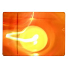 Orange Yellow Flame 5000 Samsung Galaxy Tab 10 1  P7500 Flip Case by yoursparklingshop