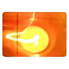 Orange Yellow Flame 5000 Samsung Galaxy Tab 8 9  P7300 Flip Case by yoursparklingshop