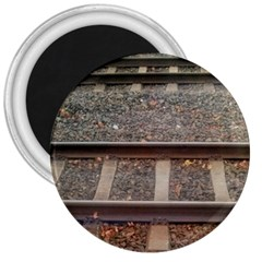 Railway Track Train 3  Button Magnet