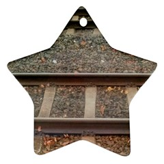 Railway Track Train Star Ornament (two Sides) by yoursparklingshop
