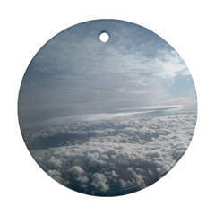 Sky Plane View Round Ornament