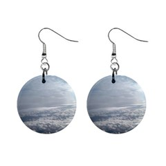 Sky Plane View Mini Button Earrings
