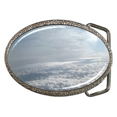 Sky Plane View Belt Buckle (oval) by yoursparklingshop