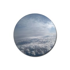 Sky Plane View Drink Coaster (round) by yoursparklingshop
