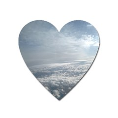 Sky Plane View Magnet (heart) by yoursparklingshop
