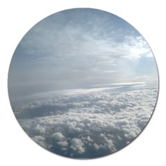 Sky Plane View Magnet 5  (round) by yoursparklingshop