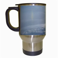 Sky Plane View Travel Mug (white) by yoursparklingshop