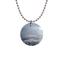 Sky Plane View Button Necklace