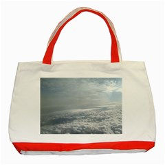 Sky Plane View Classic Tote Bag (red)