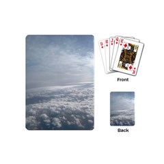 Sky Plane View Playing Cards (mini) by yoursparklingshop