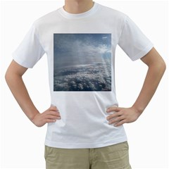 Sky Plane View Men s T Shirt (white)