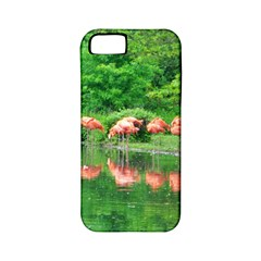 Flamingo Birds At Lake Apple Iphone 5 Classic Hardshell Case (pc+silicone) by yoursparklingshop