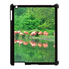 Flamingo Birds At Lake Apple Ipad 3/4 Case (black) by yoursparklingshop