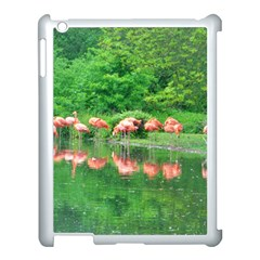 Flamingo Birds At Lake Apple Ipad 3/4 Case (white) by yoursparklingshop