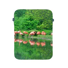 Flamingo Birds At Lake Apple Ipad Protective Sleeve by yoursparklingshop