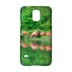 Flamingo Birds At Lake Samsung Galaxy S5 Hardshell Case  by yoursparklingshop