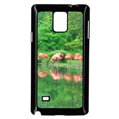 Flamingo Birds At Lake Samsung Galaxy Note 4 Case (black) by yoursparklingshop