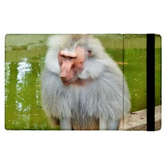 Grey Monkey Macaque Apple Ipad 3/4 Flip Case by yoursparklingshop