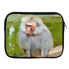 Grey Monkey Macaque Apple Ipad Zippered Sleeve by yoursparklingshop