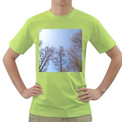 Large Trees In Sky Men s T Shirt (green)